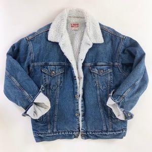 Vintage Levi's 80s 90s sherpa denim trucker jacket